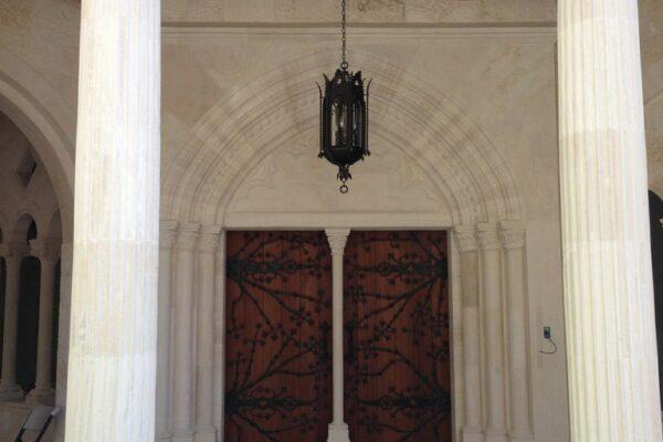 Poblet Residence Monterrey Mexico Gallery Malaga Iron Lighting Pendant Chain Iron Light Outdoors