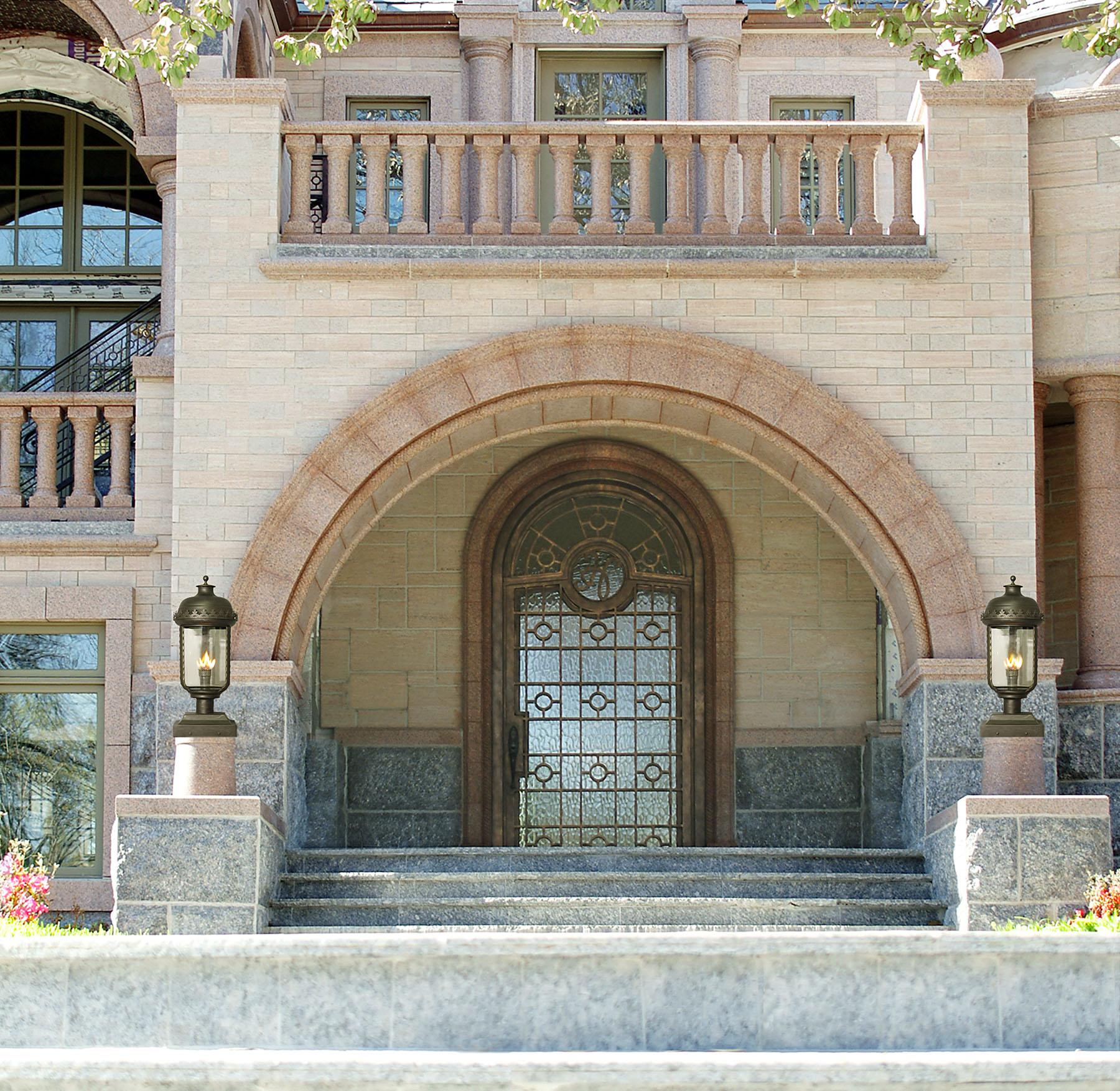 solara-custom-classic-steel-outdoor-lightinge-entrance-bellagio