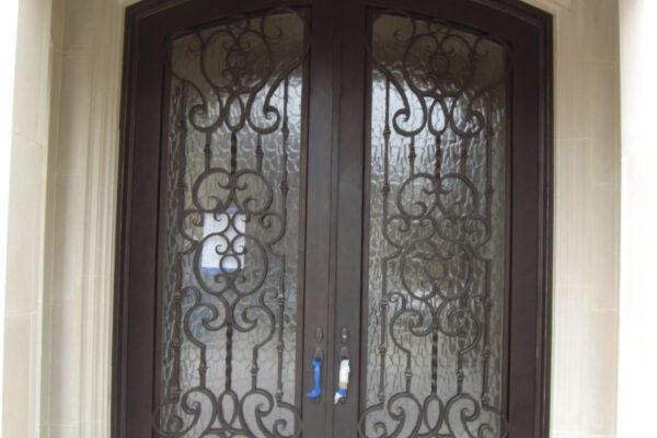 Crystal-classic-wrought-iron-doors-contemporary-steel-doors-solara-doors-lighting-CLA-S3025